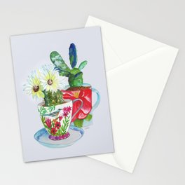 Cacti In Cups Stationery Cards