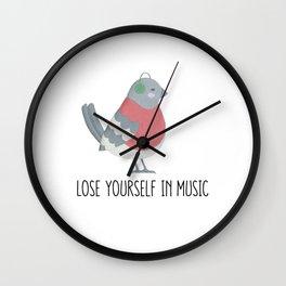 Lose Yourself in Music Bird Wall Clock