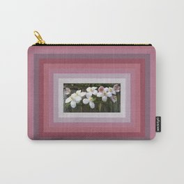 Raspberry Clematis Carry-All Pouch