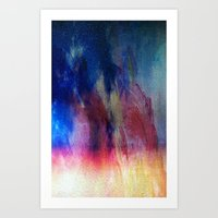 In the Flames Art Print