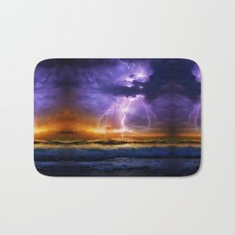 Illusionary Lightning Bath Mat
