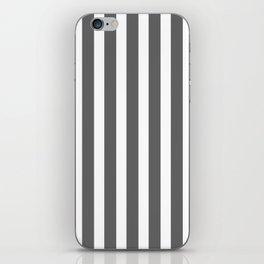 bold dark grey bars pattern iPhone Skin