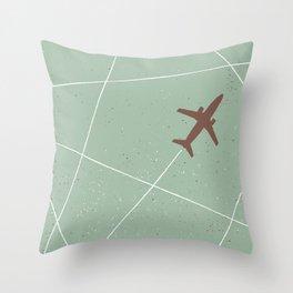 The Jet Set - Sage Green Throw Pillow