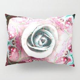 Fluid Nature - Enhanced Pink Rose Pillow Sham