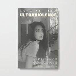 Lana De-l Rey - Ultraviolence alternative album poster Metal Print