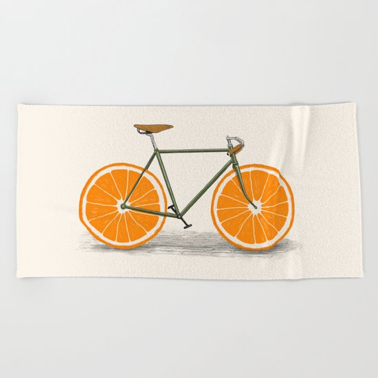 Zest (Orange Wheels) Beach Towel