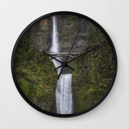 Multnomah Falls in Early Spring Wall Clock
