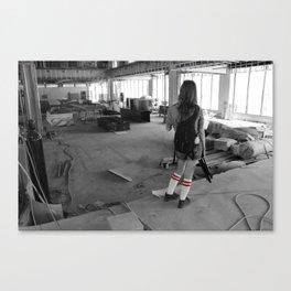 Construction Zone Canvas Print