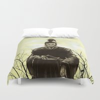 samurai Duvet Covers featuring Samurai by Tony Vazquez