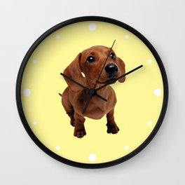 Cute Dachshund Wall Clock