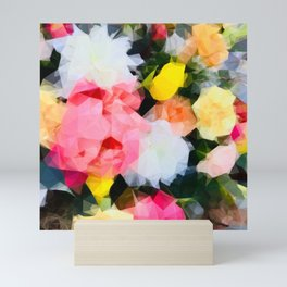 Floral Facets Mini Art Print