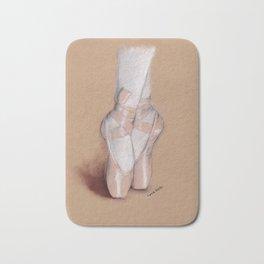 Ballet Pointe Shoes. Bath Mat