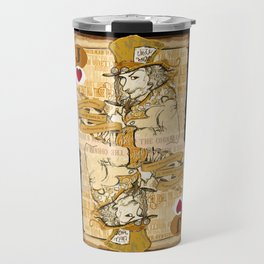 'Mad Hatter' (Alice in Steampunk Series) Travel Mug