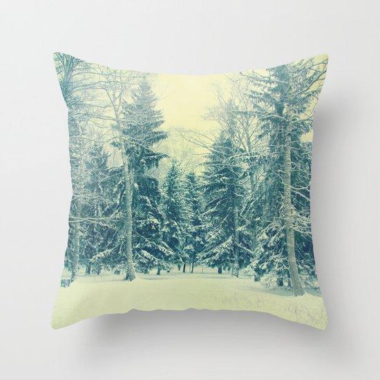 Once upon a December Throw Pillow