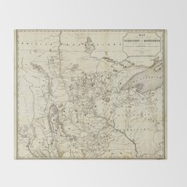 Territory of Minnesota Map (1849) Throw Blanket