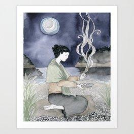 Sage Cleansing Art Print