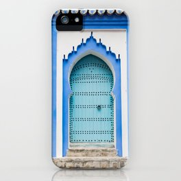 Doors - Chefchaouen, Morocco iPhone Case
