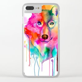 Ink Wolf Clear iPhone Case