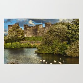 Caerphilly Castle Western Towers Rug