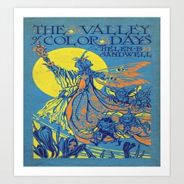 The Valley of Color Days Book Art Print