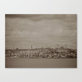 Mosque (Istanbul, TURKEY) from the Sea of Marmara Canvas Print