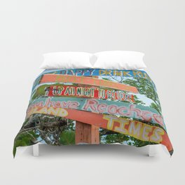 Island Directions Duvet Cover