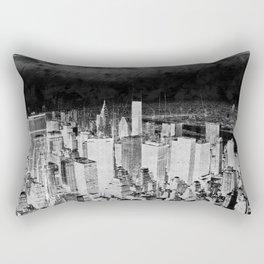 New York city line drawing Rectangular Pillow