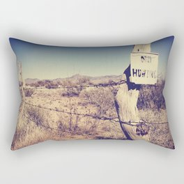 no hunting Rectangular Pillow