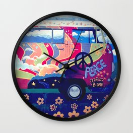 Hippie Camper Van Wall Clock