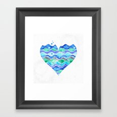 A Sea of Love (white) Framed Art Print