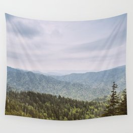 Blue Smoke Mountains Wall Tapestry