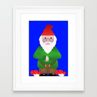 gnome Framed Art Prints featuring Gnome by lescapricesdefilles