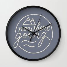 Nowhere Going Wall Clock