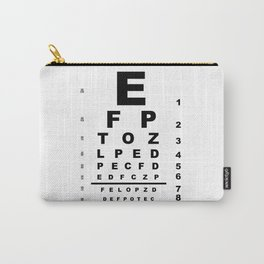 Eye Test Chart Carry-All Pouch