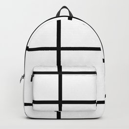 Big Grid Line Windowpane Pattern Modern Home Decor Art Design Backpack