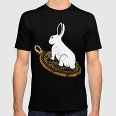 Follow The White Rabbit MEDIUM Black Mens Fitted Tee