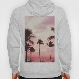 Tropical Palm Tree Pink Sunset Hoody
