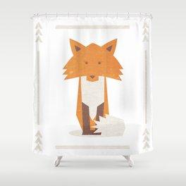 Small Fox Giclee Print Shower Curtain