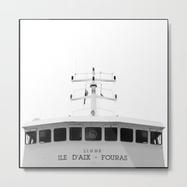 "Boat to ""Ile d'Aix"" Metal Print"