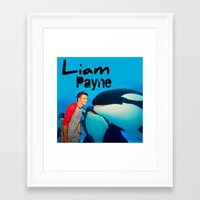 liam payne Framed Art Prints featuring Liam Payne by Marianna