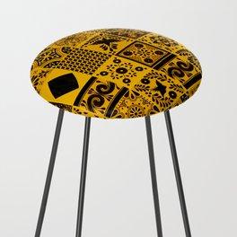 Anthropologie Bohemian Moroccan Yellow Traditional Artwork (N27). Counter Stool