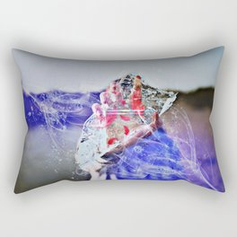 Cold Red Feathers by GEN Z Rectangular Pillow