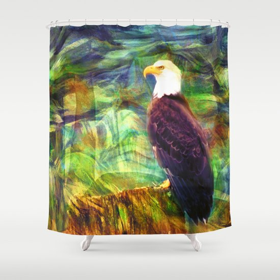 West Coast Eagle Shower Curtain