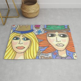 Alice and Hatter 2 Rug