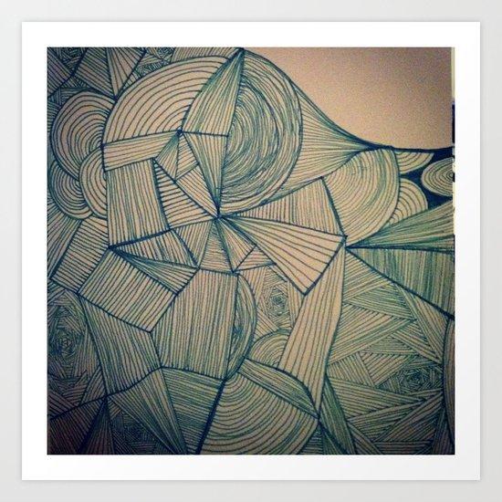 Lines & Onions. Art Print