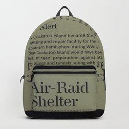 Air-Raid Shelter Sign Backpack