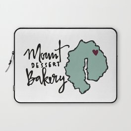 Mount Dessert Bakery Logo Laptop Sleeve