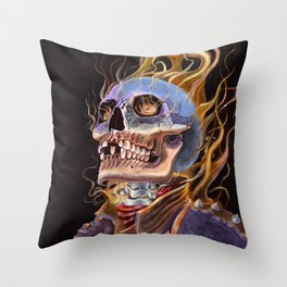 My Ghost Rider - Spirit of Vengeance Portrait: in Memory of Stan Lee Throw Pillow