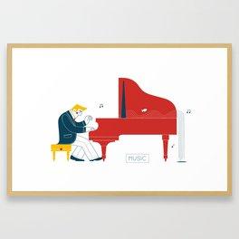 Pianist Framed Art Print