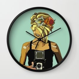 Lauren in the Sun Wall Clock